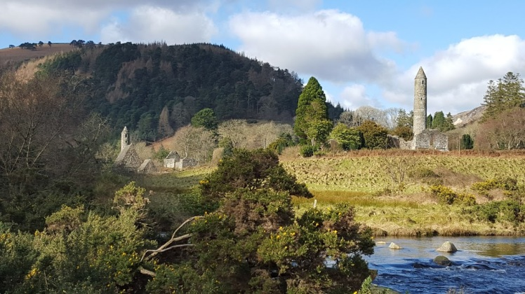 Glendalough river view 2