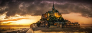 PIX.Abbey.Sunset.St.Michel